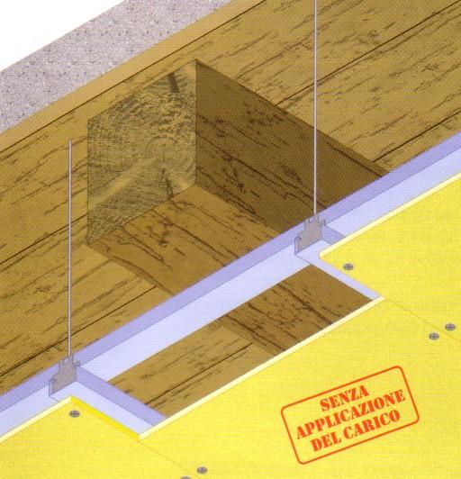 Solaio legno aderenza for Controsoffitto in legno